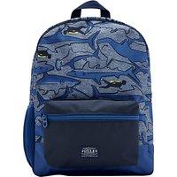 Little Joule Childrens Shark Backpack, Blue