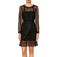 Gina Bacconi Veronica Modern Lace Dress, Black
