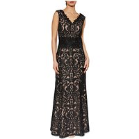 Gina Bacconi Imogen Embroidered Maxi Dress, Black