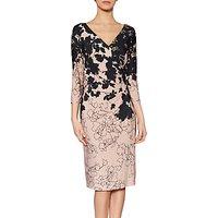 Gina Bacconi Debra Floral Print Dress