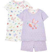 John Lewis Girls Butterfly Pyjamas, Pack of 2, Multi