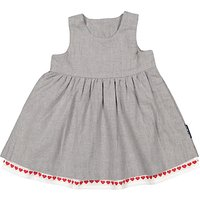 Polarn O. Pyret Baby Heart Dress, Grey
