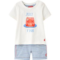 Baby Joule Barnacle Jelly Fish Top & Shorts Set, Blue