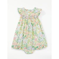 John Lewis Heirloom Collection Baby Floral Ruby Dress, Multi
