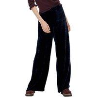 Brora Printed Silk Velvet Trousers, Nightshade