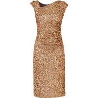 L.K. Bennett Jazz Sequin Dress, Gold
