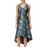 Adrianna Papell High-Low Floral Dress, Blue/Navy