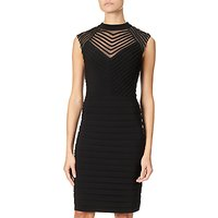 Adrianna Papell Banded And Soutache Sheath Dress, Black