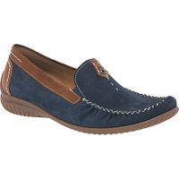 Gabor California Wide Fit Loafers, Navy/Copper