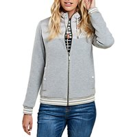 Barbour Selsey Quilted Panel Zip Up Sweatshirt, Light Grey Marl