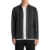 AllSaints Alverstone Checked Long Sleeve Shirt, Black