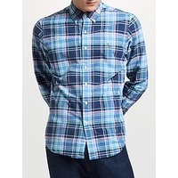 Polo Ralph Lauren Slim Fit Check Oxford Shirt, Navy/Dawn