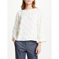 Marella Anson Textured Circle Top, White