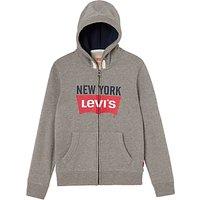Levi's Boys' New York Logo Sweat Hoodie, Grey