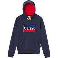 Levi's Boys' Logo Hooded Sweatshirt, Dark Blue