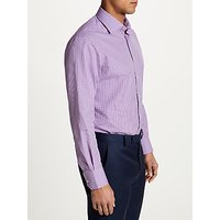 Smyth and Gibson Non Iron Cotton Poplin Gingham Contemporary Fit Shirt