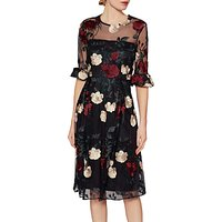 Gina Bacconi Celia Floral Embroidered Dress, Multi