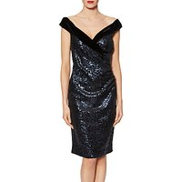 Gina Bacconi Clarissa Velvet Sequin Dress, Night