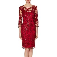 Gina Bacconi Christina Sequin Dress, Wine
