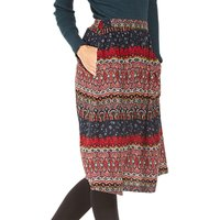 Fat Face Saffron Folklore Stripe Skirt, Multi