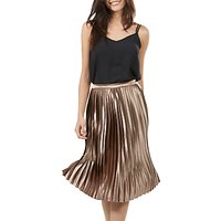 Sugarhill Boutique Lynette Pleated Midi Skirt, Bronze