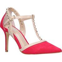 Carvela Kankan Studded T-Bar Court Shoes, Pink