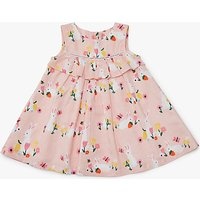 John Lewis Baby Easter Bunny Frill Dress, Pink