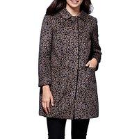 Yumi Leopard Print Coat, Grey