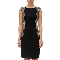 Adrianna Papell Cap Sleeve Crepe Dress, Black