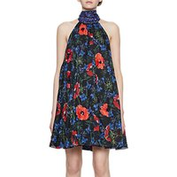 French Connection Lisette Sparkle Halterneck Dress, Black/Multi