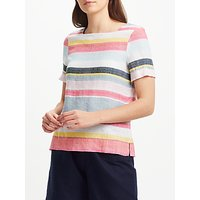 Collection WEEKEND by John Lewis Stripe Pure Linen Top, Multi