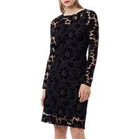 Finery Basset Lace Dress, Black