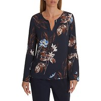 Betty & Co. Floral Print Blouse, Dark Blue/Light Blue