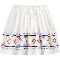 Little Joule Girls Myla Lux Skirt, White