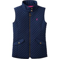 Little Joule Girls' Silvan Quilted Gilet, Navy