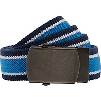 John Lewis & Partners Boys' Stripe Stretch Belt, Navy