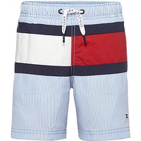 Tommy Hilfiger Boys Seersucker Swim Shorts, Blue