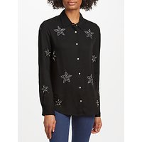 Essentiel Antwerp Star Embellished Shirt, Black