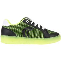 Geox Children's J Kommodor Laced Shoes, Black/Lime