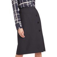 Jaeger Wrap Button Skirt, Black