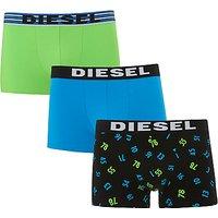 Diesel Las Vegas Trunks, Pack of 3, Green/Blue/Black