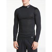 Nike Pro Long Sleeve Training Top, Black/White