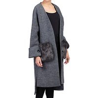 Jolie Moi Faux Fur Pocket Padded Inner Coat