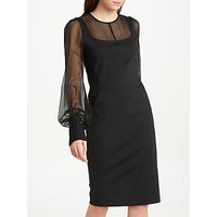 Winser London Georgette Chiffon Bell Sleeve Dress