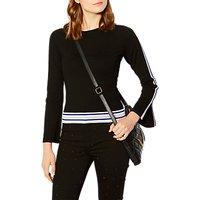 Karen Millen Striped Jumper, Black/Multi