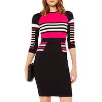 Karen Millen Stripe Block Knit Jumper Dress, Multi