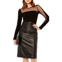 Karen Millen Asymmetric Mesh Top, Black