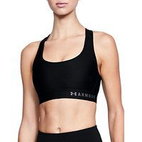 Under Armour Crossback Mid Sports Bra, Black