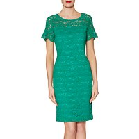 Gina Bacconi Hermione Floral Lace Dress, Green