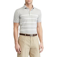 Polo Golf by Ralph Lauren Custom Fit Tech Pique Polo Shirt, Taylor Heather/Pure White